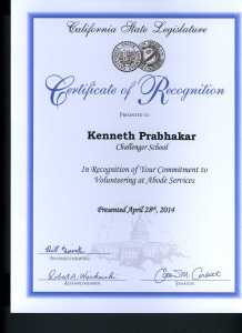Certificate of Recognition....