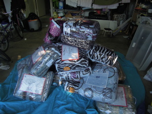 Our first set of donation - Comforters...