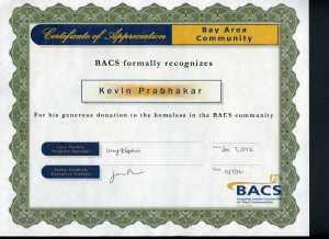 Certificate of Appreciation..