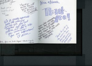 Thank you note from BACS staff