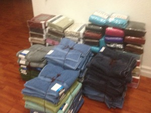 Towels and Bed sheets for the shelter...